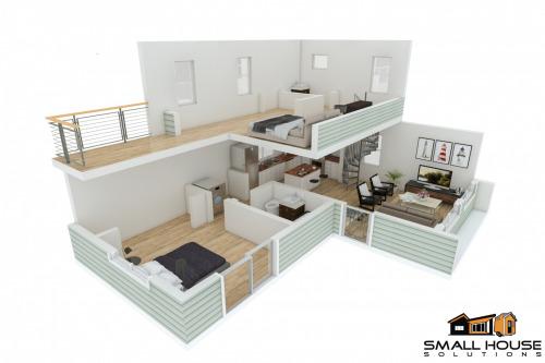 2-level-3d-layout