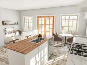 Render   Living Kitchen Bonus Render